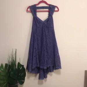 Free people vintage purple lace dress sz 2